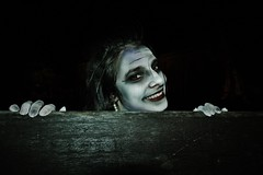 zombie Apocalypse (T Macca) Tags: painting lady zombie girl smile design style teeth mouth eyes face head hands fingers earing