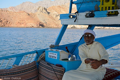 The Captain (amirdakkak1) Tags: captain outdoor sea gulf oman musandam camping boat middle east nature outdoors humans man people persons old wise wisdom boats jetty