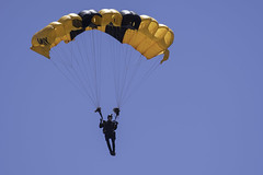 US Army Golden Knight (dcnelson1898) Tags: marinecorpsairstationmiramar marinecorps marines sandiego california mcasmiramar 2016mcasmiramarairshow airshow airplanes jets helicopters usarmy goldenknightsparachuteteam leapfrogs usnavy freefall skydiving parachute airborne
