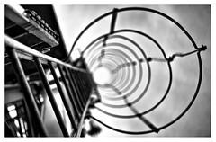 The light at the end of the tunnel makes me dizzy (leo.roos) Tags: steps trap ladder crane kraan noiretblanc oktoberfest2016 challenge dyxum a7 fedmikron  helios893019 russianlens sovietglass fixedlens darosa leoroos vastelens adaptedtoemount sonyflickraward