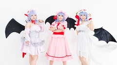 Remilias (bdrc) Tags: asdgraphy remilia scarlet touhou project cosplay girls group studio cupcat natsumi ximilu mico sony a6000 sigma 30mm f28 prime vampire bat wings dress