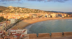 Peniscola beach from the castle during the day (nick taz) Tags: beach spain peniscola