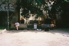 benching (subway rat) Tags: 35mm film analog analogphotography filmphotography filmforever filmisnotdead filmcamera shootfilm ishootfilm staybrokeshootfilm mjuii mju2 mjuii olympusmjuii kodak kodakfilm kodakultramax400 berlin germany street streetlife streetphotography streetphoto everybodystreet berlinstreetphotography summer travelling exploring kreuzberg