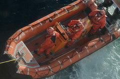 Rescuers (mag3737) Tags: barrel drill rescuers inflatable boat bcferries