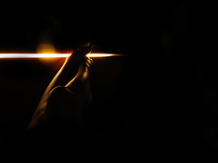 El Inicio / El Caos (Julie De Abreu) Tags: foot black light line photoart concept sillouette selfportrait