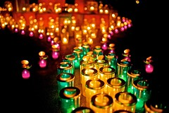 Bottle illumination (tez-guitar) Tags: illumination light candle nightscape night pentax pentaxart sigma island enoshima