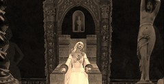 Restrained and pondering (Allie Carpathia) Tags: horror beauty hauntedhouse autumn halloween restraint secondlife