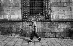 Ladderman! (John Bastoen) Tags: straatfotografie street streetphotography ladder work rectangele