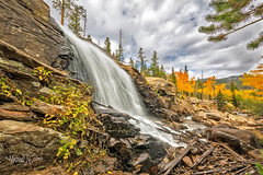 Alberta Falls (MyKeyC) Tags: waterfall falls alberta rocky mountain national park leaf colors fall autumn hike