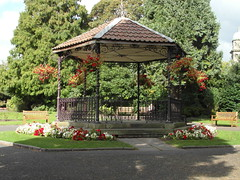 Bandstand in the gardens (bryanilona) Tags: bandstand bridgnorth shropshire castlegardens flowerbeds flowers paths october