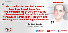 Rajiv Gandhi (FINS India) Tags: rajiv gandhi quotes india national security