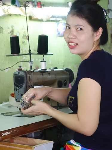 One of a dozen seamstresses at work here!