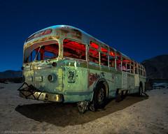 No Further (dejavue.us) Tags: california longexposure nightphotography lightpainting bus abandoned nikon desert fullmoon junkyard nikkor mojavedesert d800 rtd 1835mmf3545d vle