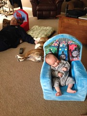 """The tryptophan caught up w/ Baby Miles too. We left Pops in charge of watching the @ButlerMBB game. #battle4atlantis • <a style=""""font-size:0.8em;"""" href=""""http://www.flickr.com/photos/73758397@N07/15714301029/"""" target=""""_blank"""">View on Flickr</a>"""