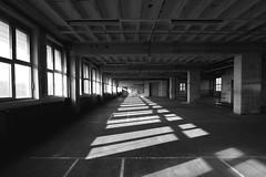 Saturday at AEG (HannaHof) Tags: white black building industry monochrome architecture nuremberg pillars nrnberg aeg