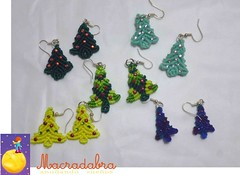 Arbolitos de Navidad (Macradabra) Tags: navidad earrings regalos arbolitos regalitos aretes macram macradabra