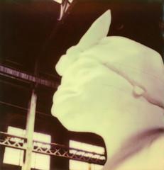head (lawatt) Tags: sculpture film brooklyn factory sugar instant domino slr680 karawalker theimpossibleproject color600