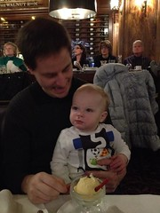 """Paul Eats Snowman Ice Cream with Daddy • <a style=""""font-size:0.8em;"""" href=""""http://www.flickr.com/photos/109120354@N07/15932104608/"""" target=""""_blank"""">View on Flickr</a>"""