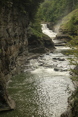 Letchworth in August (darosenbauer) Tags: summer green nature river waterfall rocks letchworth gorge