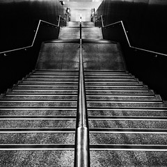 ( / LINUS) Tags: bw stair snap iphone