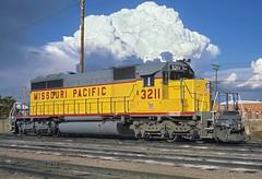 Missouri Pacific SD40-2 3211 Denver CO (Railblazer) Tags: denver unionpacific thunderstorm mp mop stormclouds emd sd402 missouripacific rostershot emdsd402 missouripacificrailroad emdlocomotive unionpacificsd402 locomotiveroster updenveryard missouripacificlocomotive missouripacificsd402 mpsd402 mplocomotive unionpacificdenver