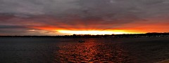 Sunset Pano (markchevy) Tags: sunset sea panorama clouds landscape boats harbor photo newjersey interesting colorful pix graphic dusk nj picture scene atlantic vista belmar avon pictorial sharkriverinlet epl1 markchevy
