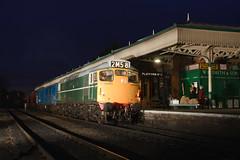 D5401 Loughborough 25/02/2015 (Steveo46240) Tags: night newspaper loughborough gcr class27 d5401