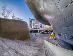 Seoul (bontakun) Tags: city asia korea fisheye seoul southkorea dongdaemun   dongdaemunhistoryandculturepark