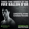 Hes done it again,and again👍👍👍 Cristiano Ronaldo wins Ballon dOr for second straight year!! Congratulations!!! #FueledbyHerbalife💚 #Herbalife #Herbalife24 #H24 #BallondOr #CR7 #HerbalifeNutritionForLife #CristianoR