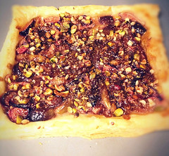 fig and pistachio tart (erinheastings) Tags: figs pistachio tart pastry flaky puff nuts fruit pie dessert treat bake