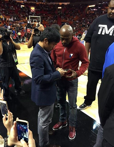 Manny Pacquiao And Floyd Mayweather At H by daneworksonline, on Flickr
