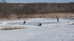Pond Hockey (NedraI) Tags: winter ny hockey frozen pond skating january
