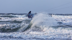 Warnemnde (AngelikaBentin) Tags: strand warnemnde wind kit leuchtturm sturm surfen teepoot