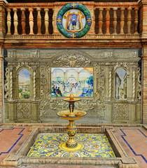 Banco de cermica dedicado a Sevilla 1 en la Plaza de Espaa de Sevilla (Rafael Gomez - http://micamara.es) Tags: plaza en espaa de 1 la sevilla banco cermica azulejos dedicado provincias espaolas