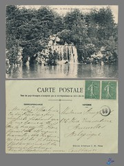 PARIS - Le Bois de Boulogne - La Cascade (bDom [+ 3 Mio views - + 40K images/photos]) Tags: paris 1900 oldpostcard cartepostale bdom