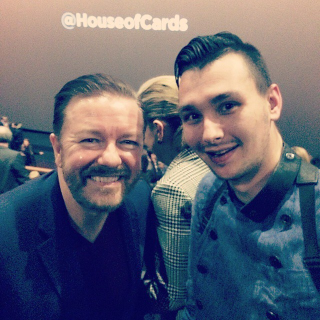 Still cant believe I also met the legendary funny Ricky Gervais last night at the HOUSE OF CARDS premiere! Such a cool guy ^,^ #london #comedylegend