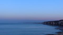 Purple hour (KerKaya) Tags: blue sunset seascape france coast purple cliffs hour fz200 kerkaya