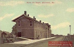Marceline's First Santa Fe RR Station 1900
