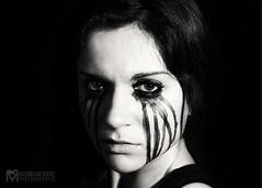 Transizione BW (Massimiliano Gentile) Tags: bw face model eyes makeup occhi sguardo bianco nero faccia trucco modella massimilianogentilephotography