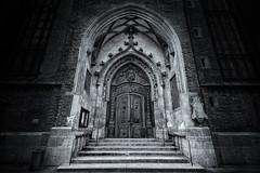 the portal (nils_P) Tags: door bw church munich mnchen blackwhite portal tor frauenkirche tr mystic schwarzweis
