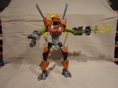 Stone Nomad firing lightning (Toa Banshee) Tags: stone nomad bionicle
