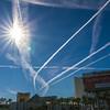 Contrails over Vegas (-Astin-) Tags: lasvegas canon7d tokina111628