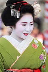 Maiko Girl (Teruhide Tomori) Tags: portrait woman girl beauty festival japan lady kyoto maiko   kimono tradition   kitanotenmangu baikasai ef70200mmf28l    canoneos5dmark