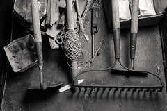 Hoes and rakes (cthemba) Tags: rural gardening tools farms