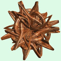 3 Knots /  (TANAKA Juuyoh ()) Tags: texture design 3d code cg pattern graphic knot structure symmetry figure program mapping algorithm mathematica  abstruct         parametricplot3d