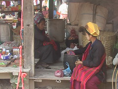 Shan Socializing  at Inle Market