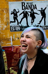 (lorzlex) Tags: portrait girl smile brasil laughing hair happy photography colorful side joy shaved young happiness piercing porto portraiture laugh laughter piercings alegre alternative spontaneous