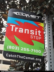 Central Midlands RTA Bus Stop Sign (TheTransitCamera) Tags: city bus public south authority central columbia system transportation transit carolina catch service comet regional midlands cmrta