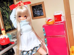 (nanatsuhachi) Tags: kitchen doll anniversary gift present miu feb25 azone pureneemo excute ver11 excute majokkomiu