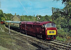 com pos D.224 Collectors item no. 16 Western Courier (robsue888) Tags: train postcard rail railway 70s 1970s 1977 dateestimated
